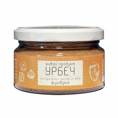 Живой продукт Урбеч из ядер фундука 225 г