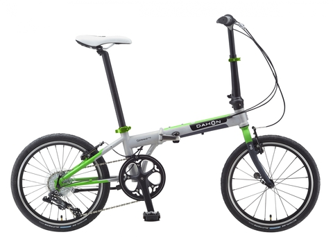 Dahon Speed D8 (2015) серый с зеленым