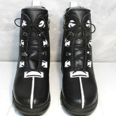 Зимние ботинки женские Ripka 3481 Black-White.