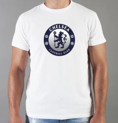 Футболка с принтом FC Chelsea (ФК Челси) белая 0010