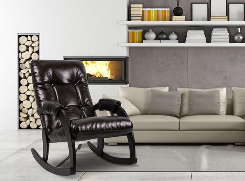Кресло-качалка Модель 67 (венге/ Vegas lite Amber) коричневый