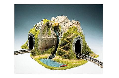 Макет туннеля - горный пейзаж, (радиусный, H0)