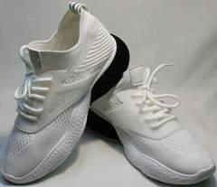 Красивые кроссовки белые сетка женские El Passo KY-5 White.