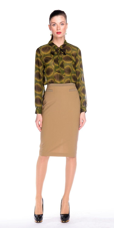 Юбка Б046-352 - Стильная юбка-карандаш на подкладке. Юбка идеально сидит на любой фигуре придавая стройность и элегантность.