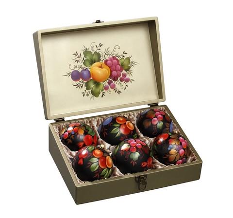 Набор из 6 елочных шаров в шкатулке SET04D-667785792