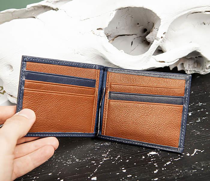 WL322-3 Кожаный зажим для купюр и карточек из кожи, «Moriz» фото 04