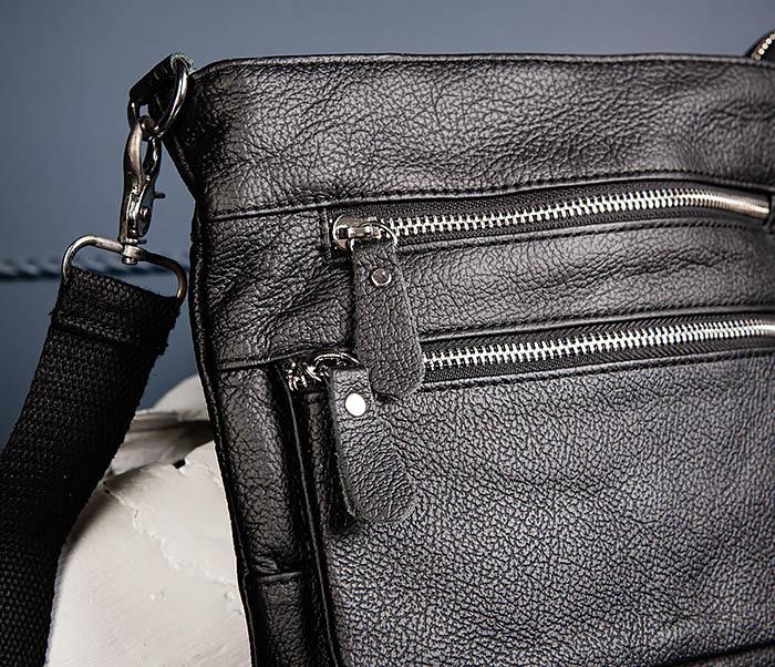 BAG539-1 Кожаная сумка планшет с ремнем на плечо фото 06