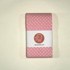 ЛЕНТА ДЛЯ ЛОСКУТНОГО ШИТЬЯ ярко-розовая в горошек