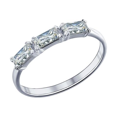 94011441-Кольцо дорожка  из серебра с фианитами
