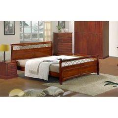 Кровать Агата 200x180 (836-SN-KD MK-2104-RO) Темная вишня