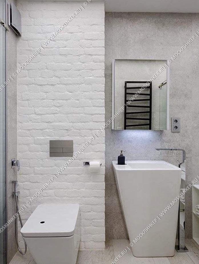Клинкервиль 907, цвет белый - Искусственная плитка под покраску для имитации кирпичной кладки