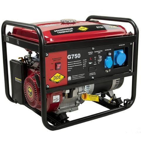 Генератор бензиновый DDE G750 (1ф 7,0/7,5 кВт бак 25 л 85 кг дв-ль 15 л.с) (917-453)