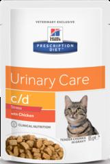 Пауч для кошек Hill`s Prescription Diet с/d Urinary Stress, против стресса при цистите, с курицей