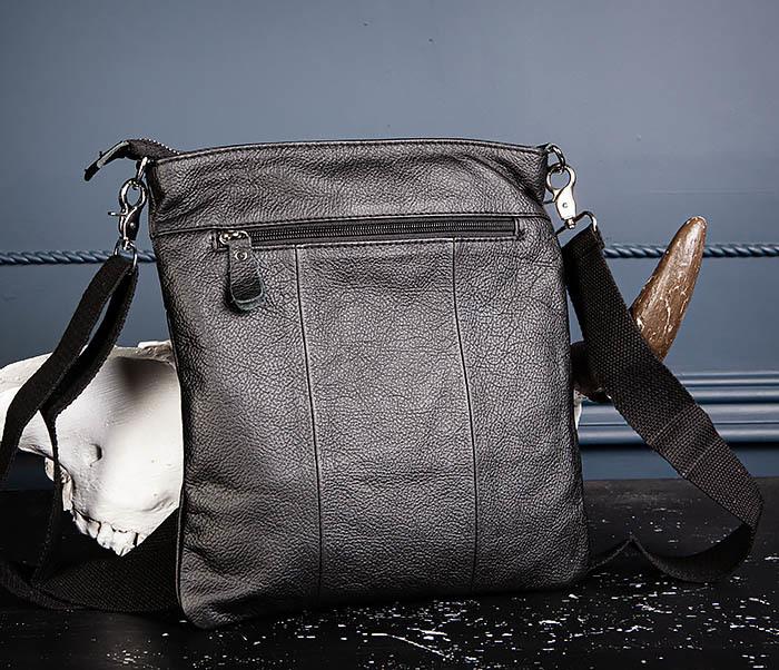 BAG539-1 Кожаная сумка планшет с ремнем на плечо фото 08