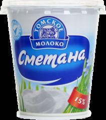 "Сметана ""Томское молоко"" 15% 350г"