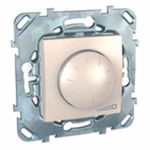 Светорегулятор/Диммер для ламп накаливания и галогенных ламп 40-1000 В. поворотно-нажимной. Цвет Бежевый. Schneider electric Unica. MGU5.512.25ZD