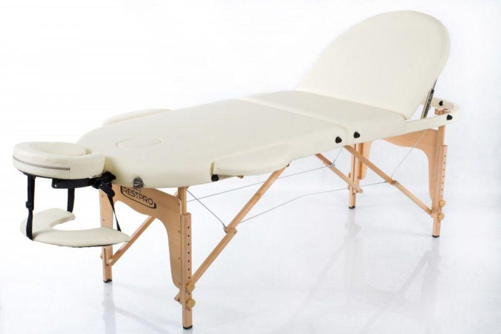 Массажный стол RESTPRO Classic Oval 3 Cream фото