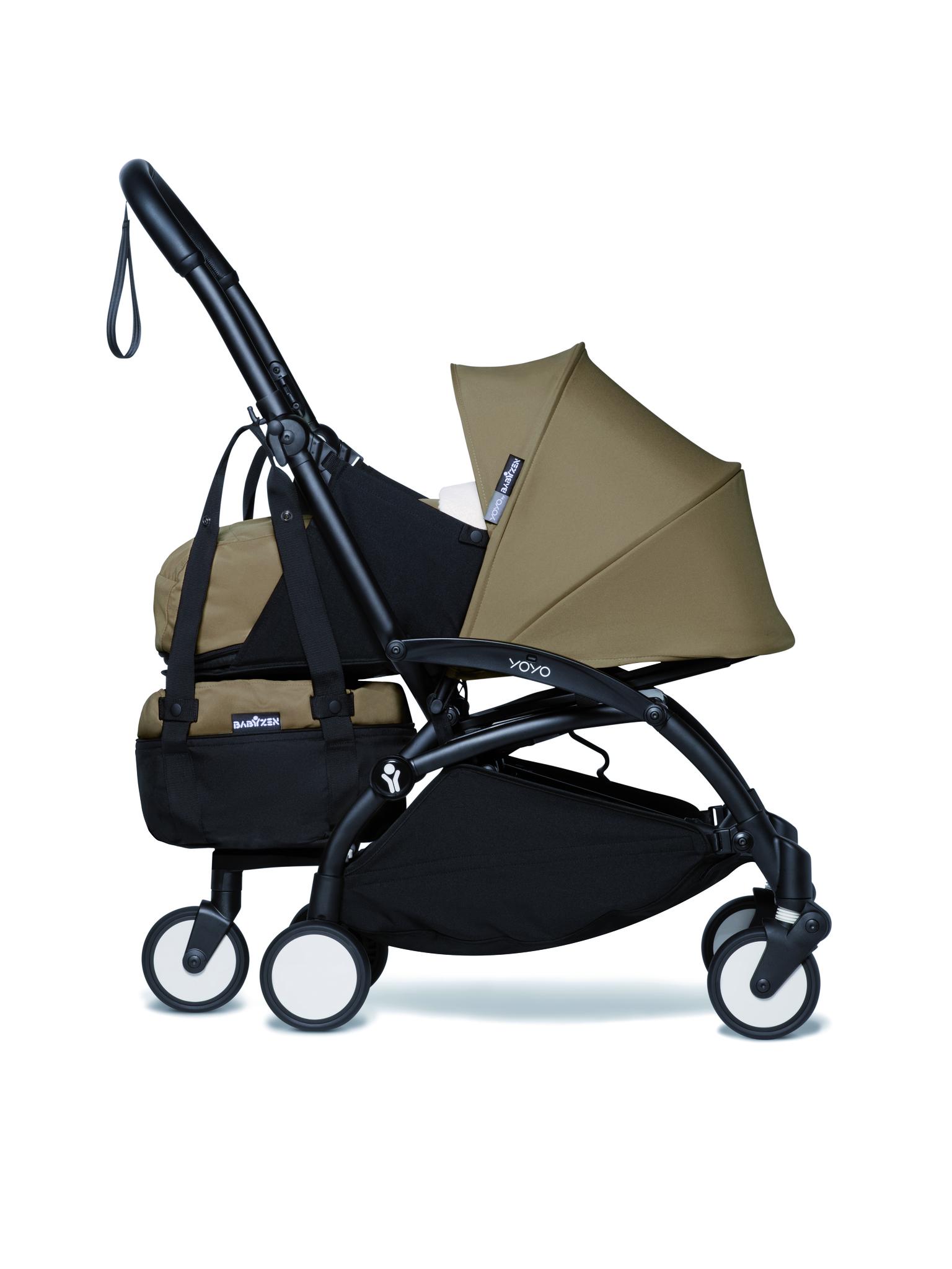 Сумка для коляски BabyZen YOYO+ Bag с колесом платформой Toffee Тоффи