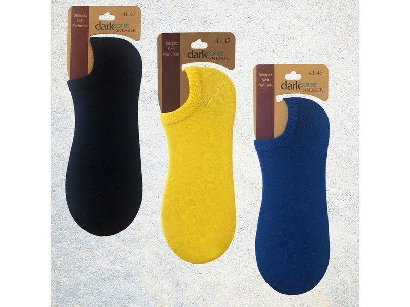 Носки-невидимки мужские - набор из 3 пар (желтые, синие, темно-синие) DARKZONE DZCP3105