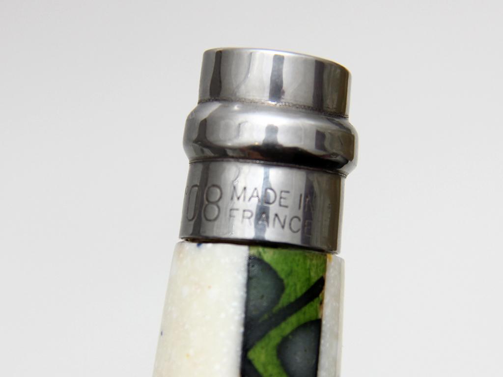 Нож авторский Opinel 08 клинок полированный гильоширование - фотография