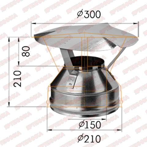 Оголовок d150x210мм (430/0,5мм+оцинк) Ferrum