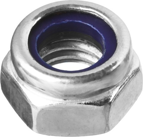 Гайка DIN 985 с нейлоновым кольцом, M5, 5 кг, кл. пр. 6, оцинкованная, ЗУБР