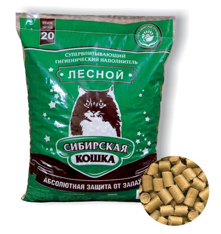 Сибирская кошка Лесной - древесный наполнитель