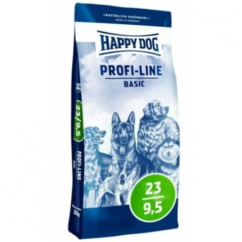 Happy Dog Profi-Line Basic 23/9,5 сбалансированный корм для собак всех пород 20 кг