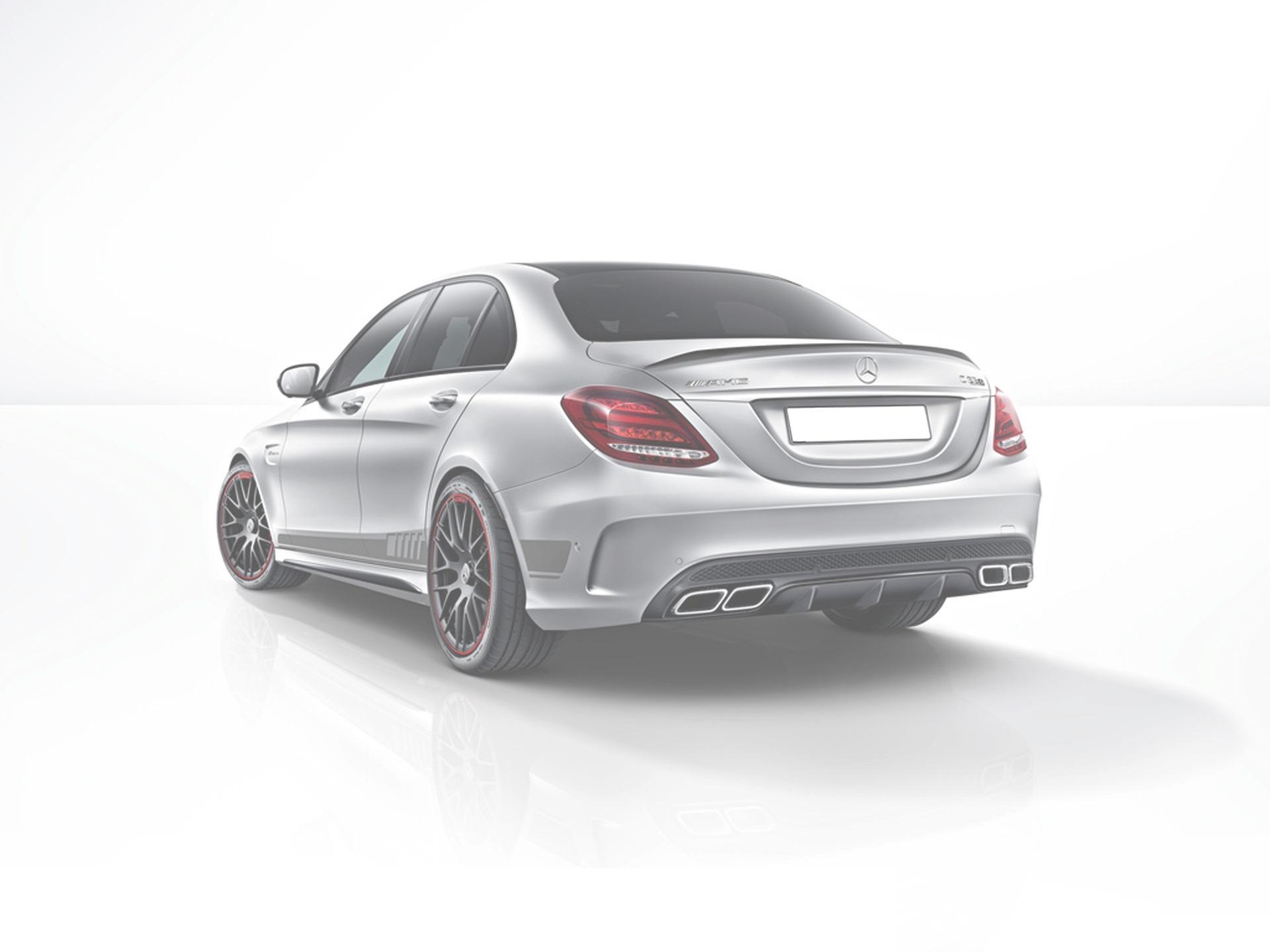 Карбоновый спойлер на багажник AMG Style для Mercedes С-class W205