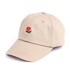 Кепка с розой бежевая (Бейсболка с розой бежевая)