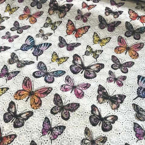 Ткань шитье бабочки 3305