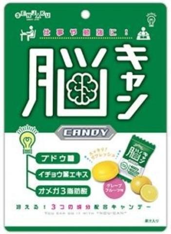Леденцы Сенжаки SENJAKU для головного мозга с экстрактом листьев Гинкго и Омега-3 65 г