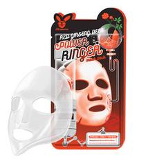 Elizavecca Red Ginseng Deep Power Ringer Mask - Регенерирующая тканевая маска для лица с красным женьшенем