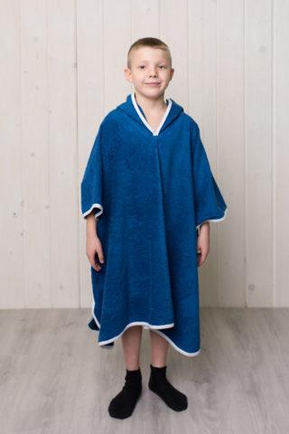 Детский халат пончо (Темно-Синий)
