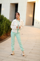 Белая джинсовая куртка оверсайз интернет магазин
