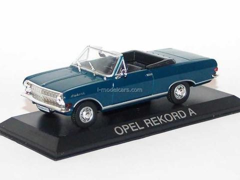 Opel Rekord A Cabrio blue 1:43 DeAgostini Masini de legenda #81