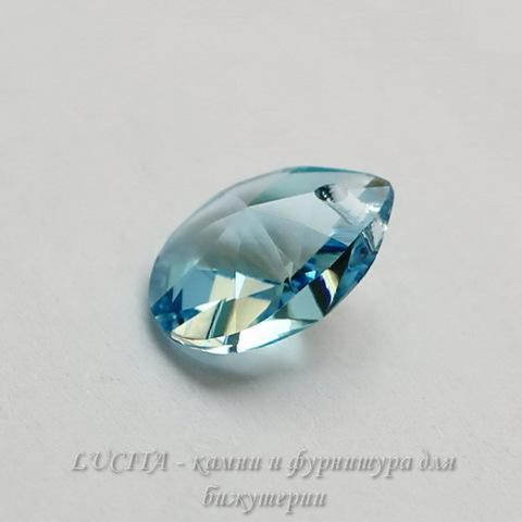 6128 Подвеска Сваровски Капля Aquamarine (12 мм)