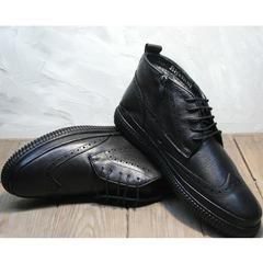 Зимние ботинки с мехом мужские Rifellini Rovigo C8208 Black