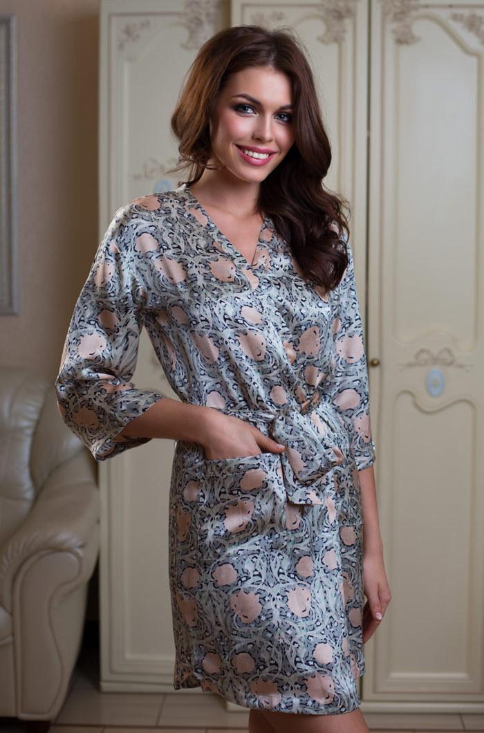 Шелковые халаты Халат женский MIA-MIA   Dior ДИОР 15083 15083.jpg