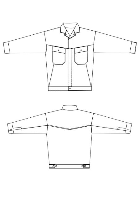 Выкройка костюма Механик куртка
