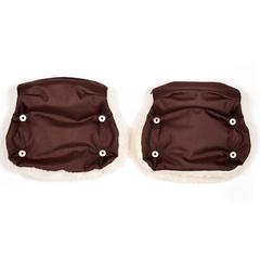 Markus. Раздельная меховая муфта Base Twin, коричневый вид 1