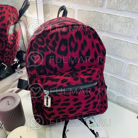 Рюкзак леопардовый тренд 2019 (цвет: вишнёвый)