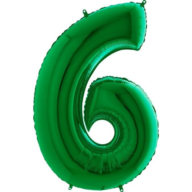 Шары цифры Шар цифра 6 Зеленая 802.jpg