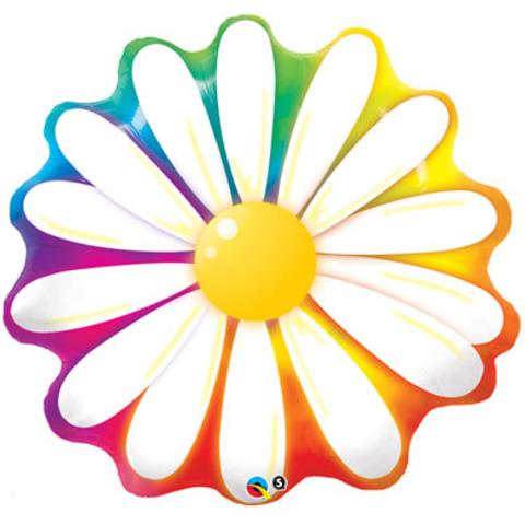 Фольга-фигура Цветок Ромашка радуга