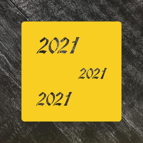Трафарет новогодний 2021 №1