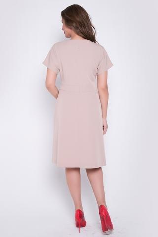 """<p>Элегантное офисное платье. V - образный вырез горловины визуально """"вытягивает"""" силуэт. Рукав """"кимоно"""", приталенный силуэт, функциональные карманы, по спинке замок. (Длины: 46-48= 100см; 50-52=101см; 54=102см)</p>"""