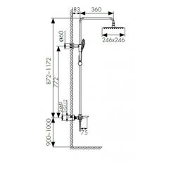 Душевая система KAISER Cezar 05282 с термостатом и изливом схема