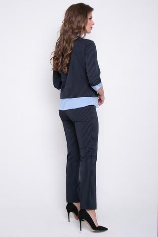 <p>Деловой брючный костюм с эффектной отделкой. Отличный вариант для уверенной в себе дамы. Брюки на резинке. (Длина брюк: 44-46=100см; 48-50=103см;)</p>