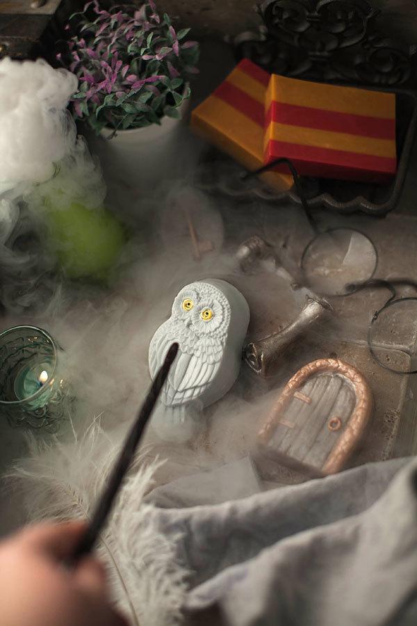 Пластиковая формочка для мыла в виде совы