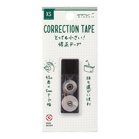 Ленточный штрих-корректор Midori XS Correction Tape (черный)